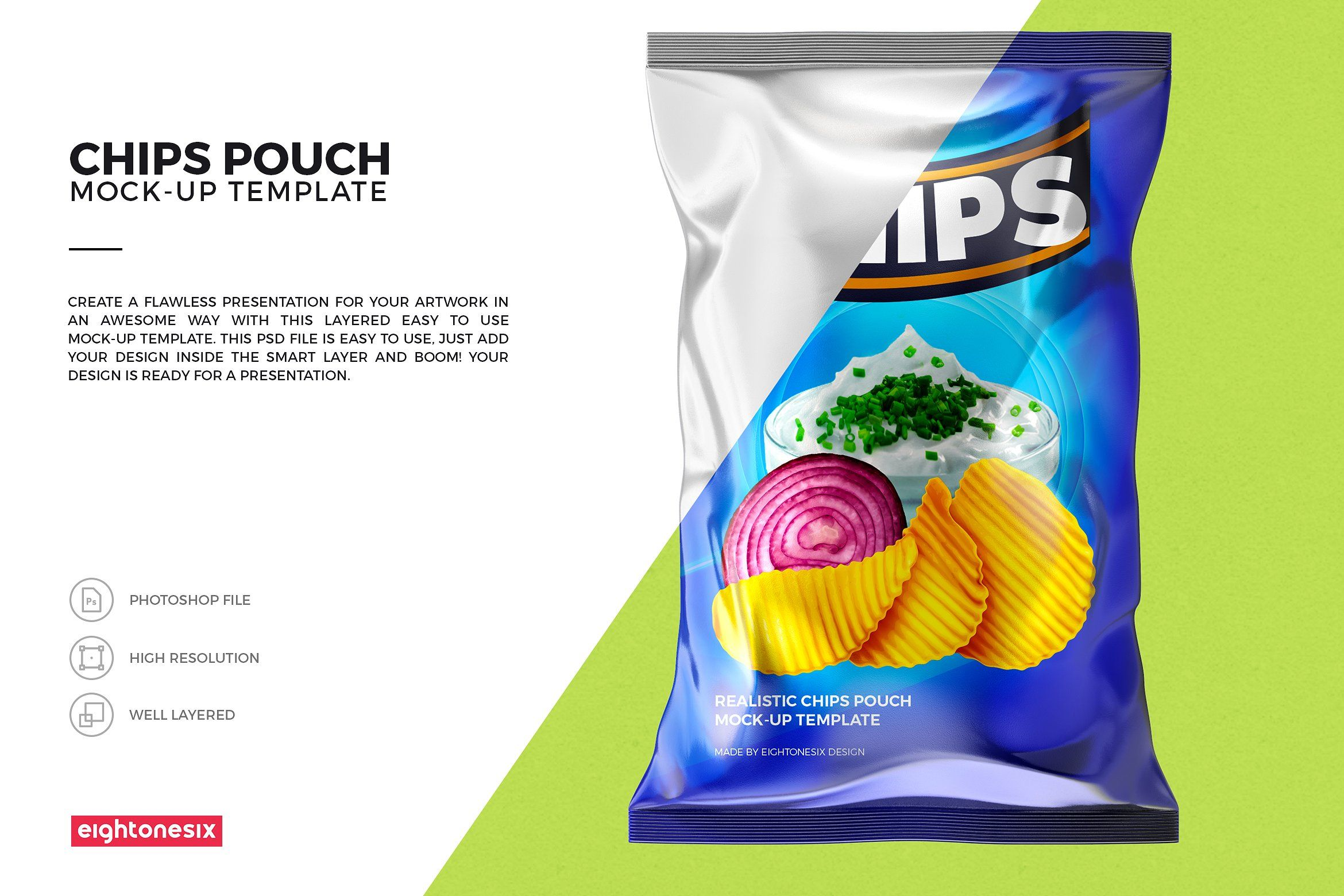 Download Realistic Chips Pouch Mock Up Mockup Chips Mocking