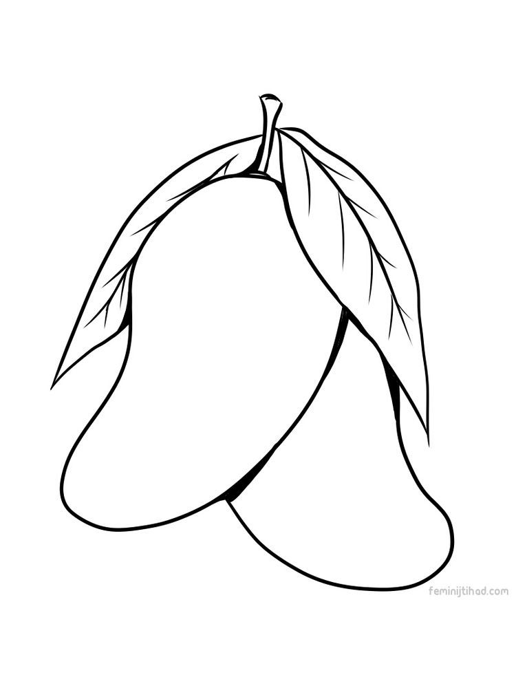 Mango Coloring Page For Print Pdf Fruit Coloring Pages Coloring