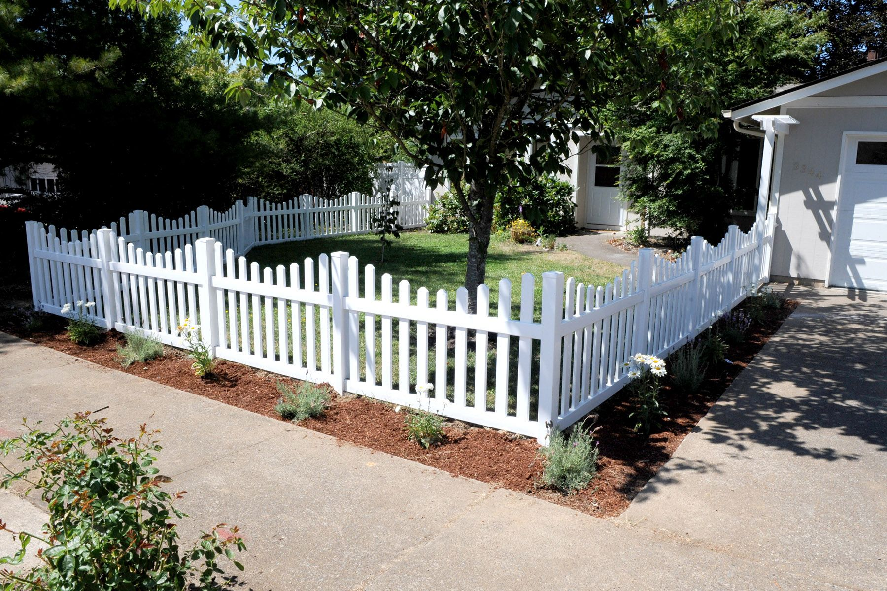 Front Yard Fence Ideas Part - 19: Picket Fence · Front Yard ...