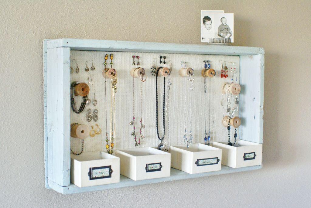 Diy Jewelry Organizer Hanging Jewelry Storage