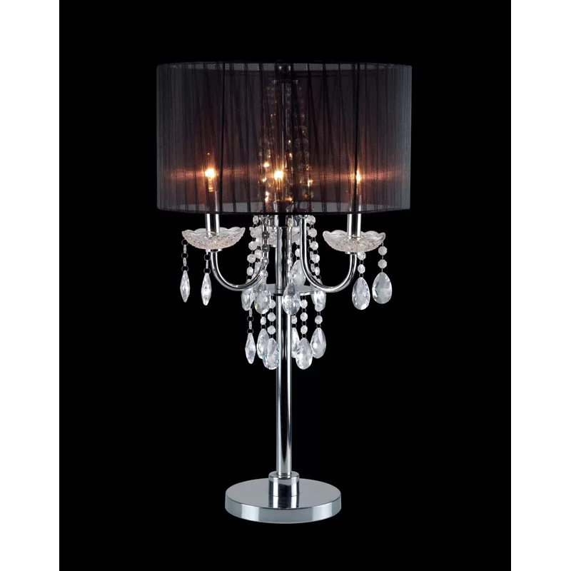 Muldowney 30 Silver Table Lamp Table Lamp Silver Table Lamps Crystal Table Lamps