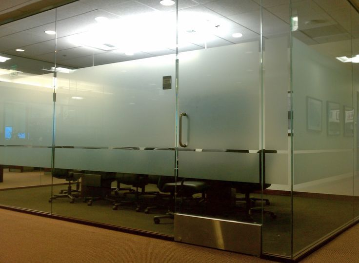 Frosted Vinyl Conference Room Windows Frosted Etched