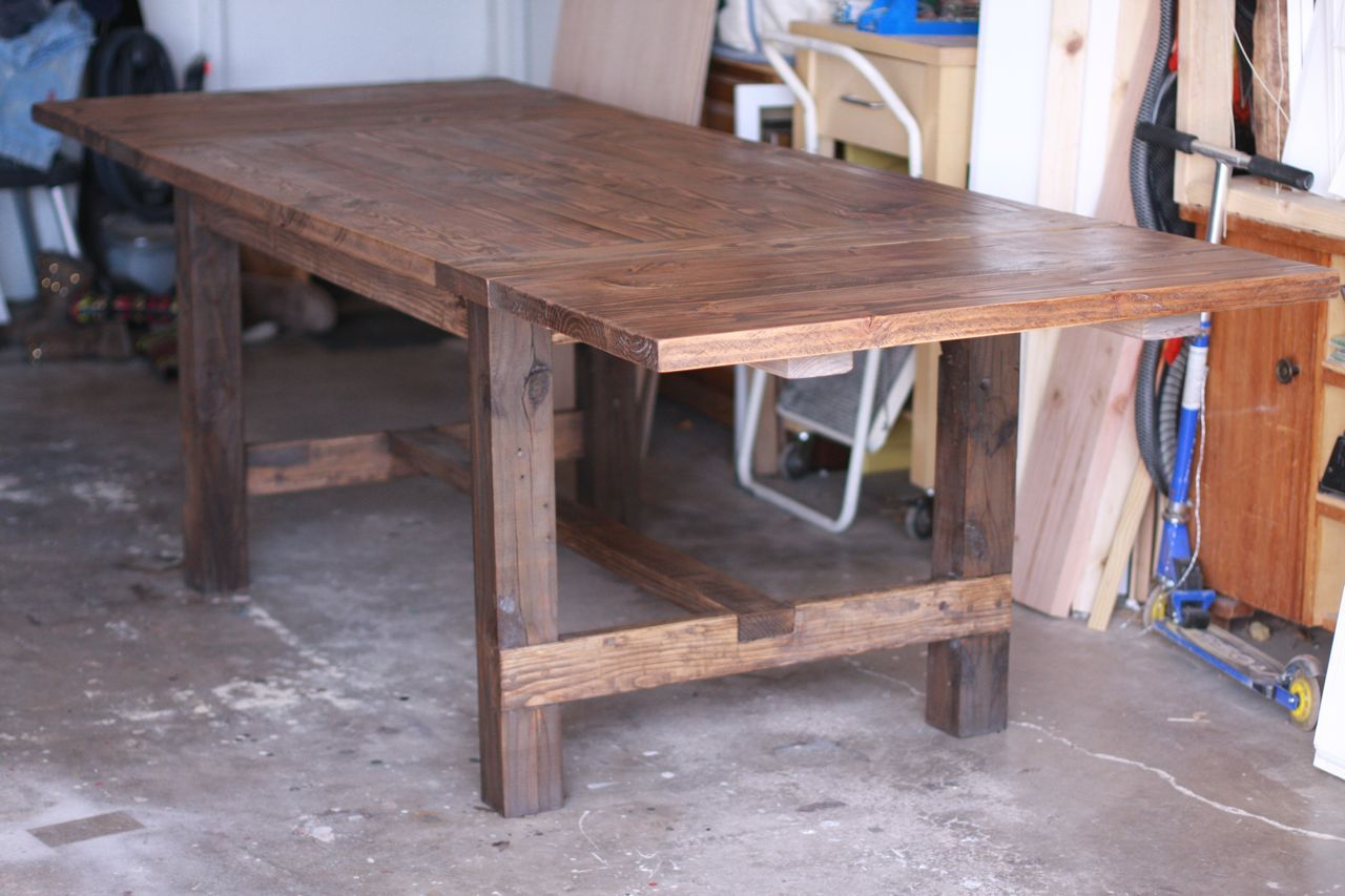 Expandable Farmhouse Table X Expandable To X With Two Breadboard Leaves