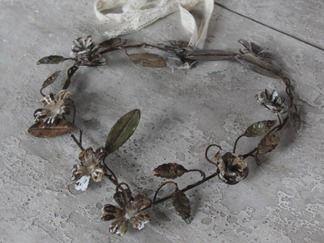 Chic Antique Hjärtformad Krans i Metall