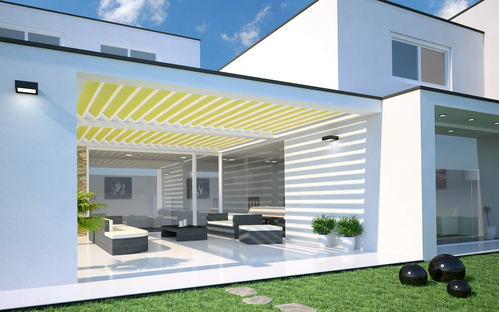 terrassenüberdachung von fledmex unter | fledmex, Gartengerate ideen