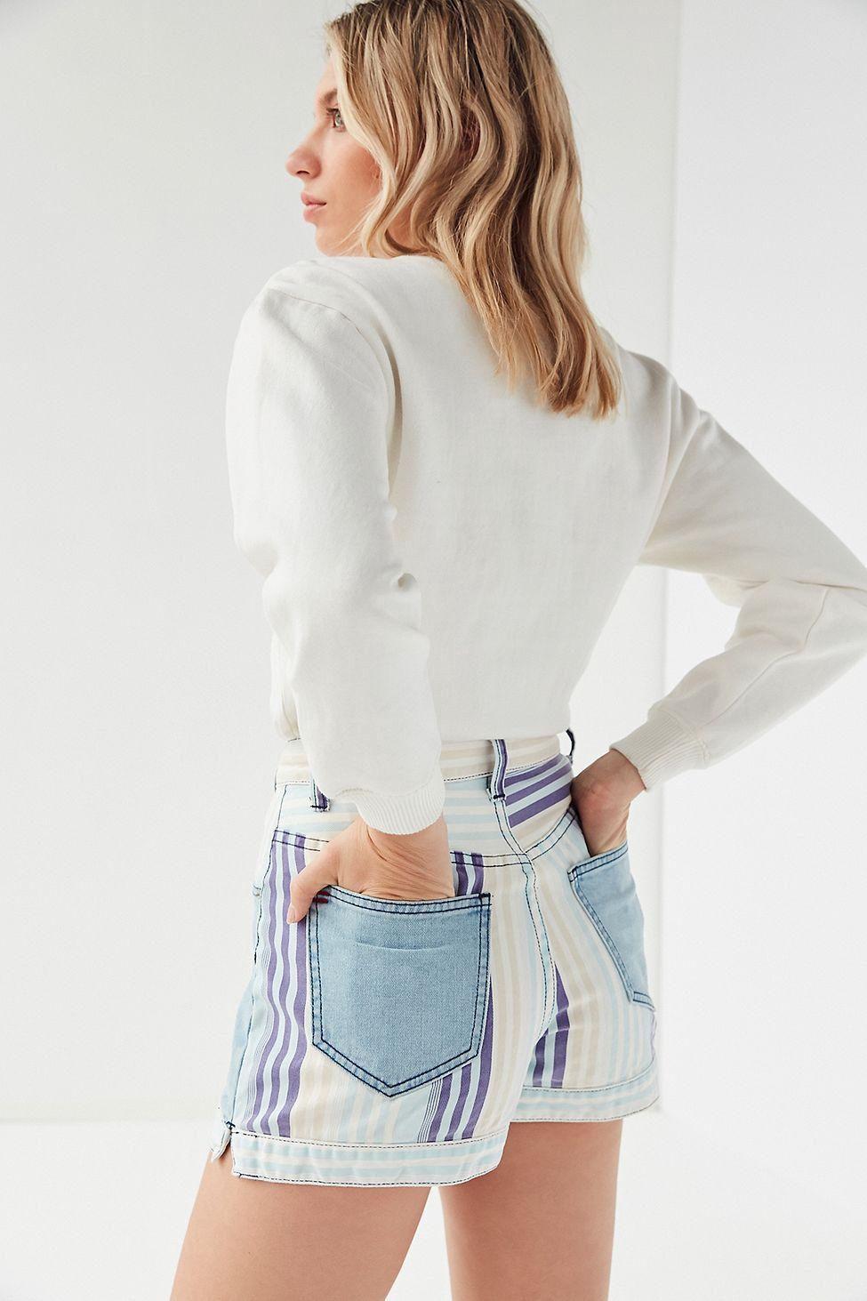 755bfef6b8 Urban Outfitters Bdg Mom High-Rise Denim Short – Nebraska - Blue Multi