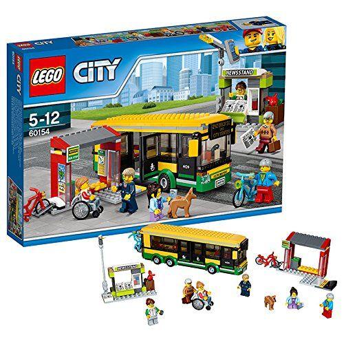 lego 60154 city jeu de construction la gare routi re d couverte de la ville bord du. Black Bedroom Furniture Sets. Home Design Ideas