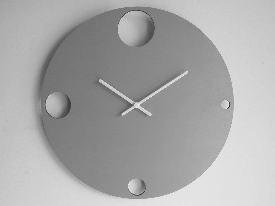 Diametro 40 cm grande orologio da parete silenzioso colorato come lill/à Particolari orologi a muro analogici con meccanismo al quarzo senza ticchettio Design moderno ed originale