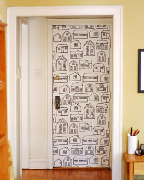 Worried about what your landlord will say? Cover doors or wall ...