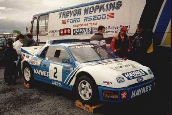 Trevor Hopkins Rs200 And Trailer Ford Motorsport Rally Car Rally