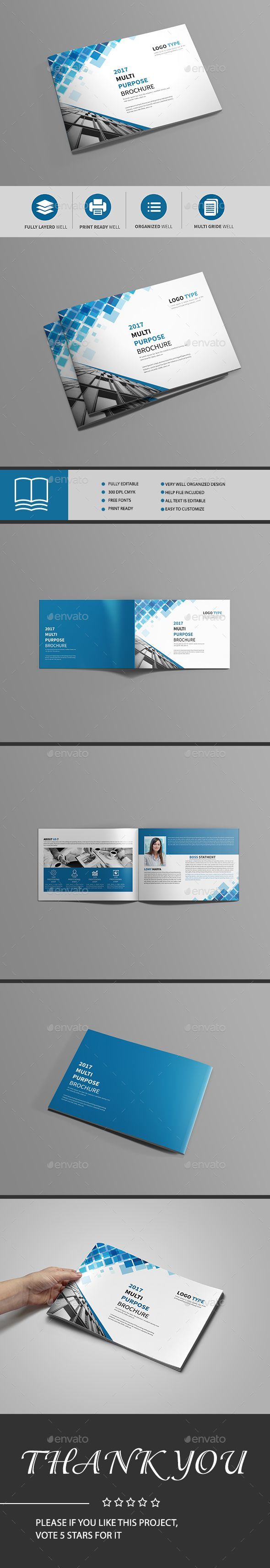 Bi-Fold Brochure Template — InDesign Template #clean #customizable ...