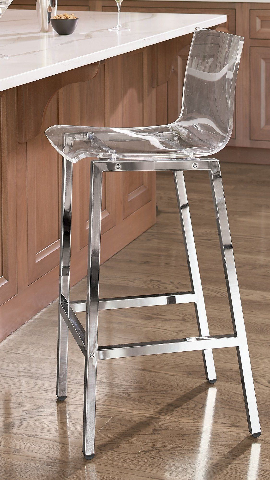 Arlo Acrylic Bar Counter Stool With Images Counter Stools