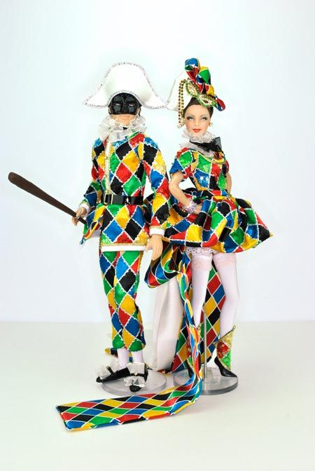 Magic Arlecchino & Arlecchina for the Silent Charity Auction at 2013 National Barbie Convention auctioned for $4000