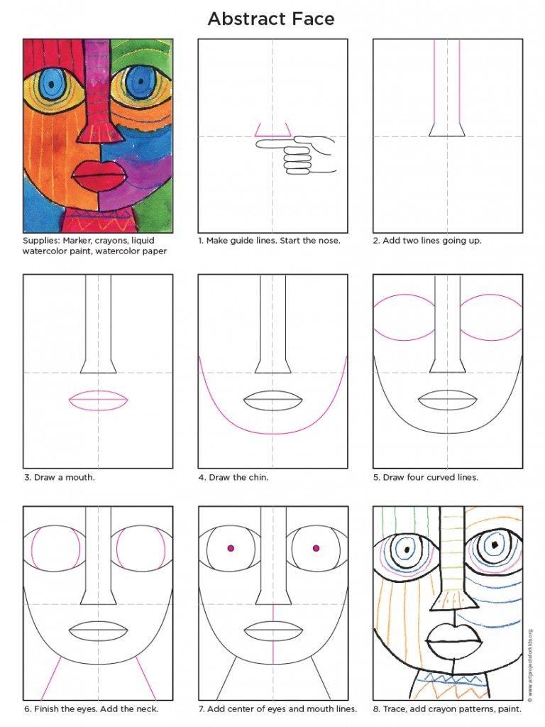 Abstract face tutorial pinterest abstract painting techniques abstract art for kids ccuart Gallery