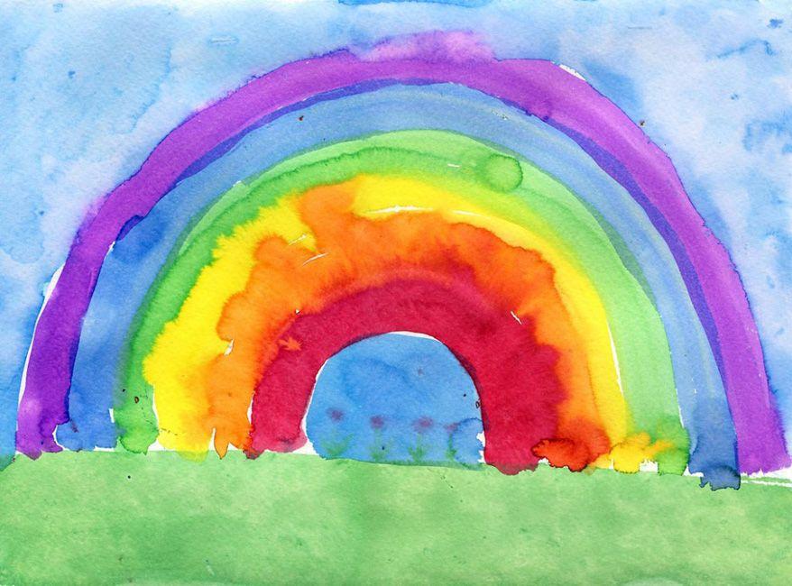 Galaxy Rainbow Watercolor Ink Color Drawing Painting Galaxy