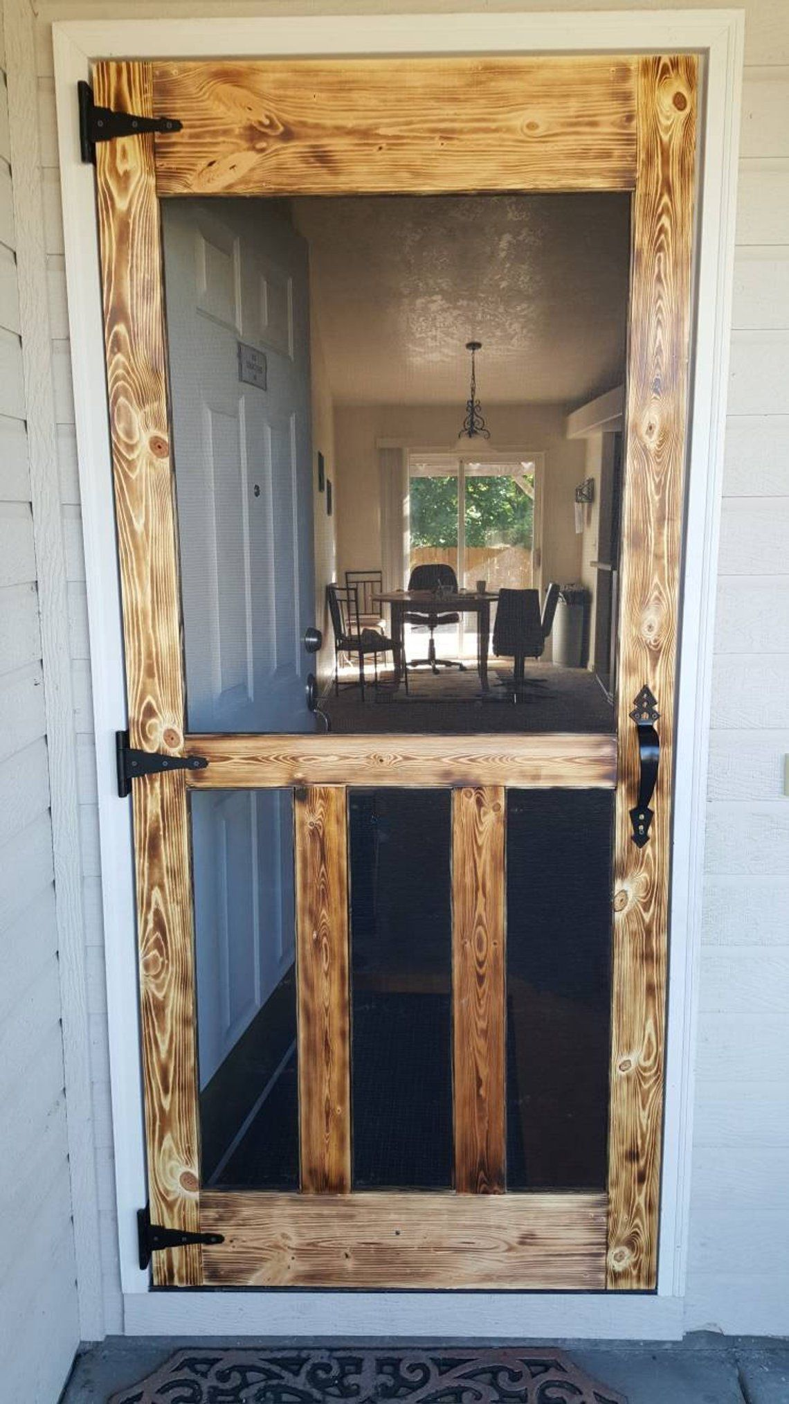 Rustic/Country custom screen doors. Perfect for front or rear entryway. Or any room in your home