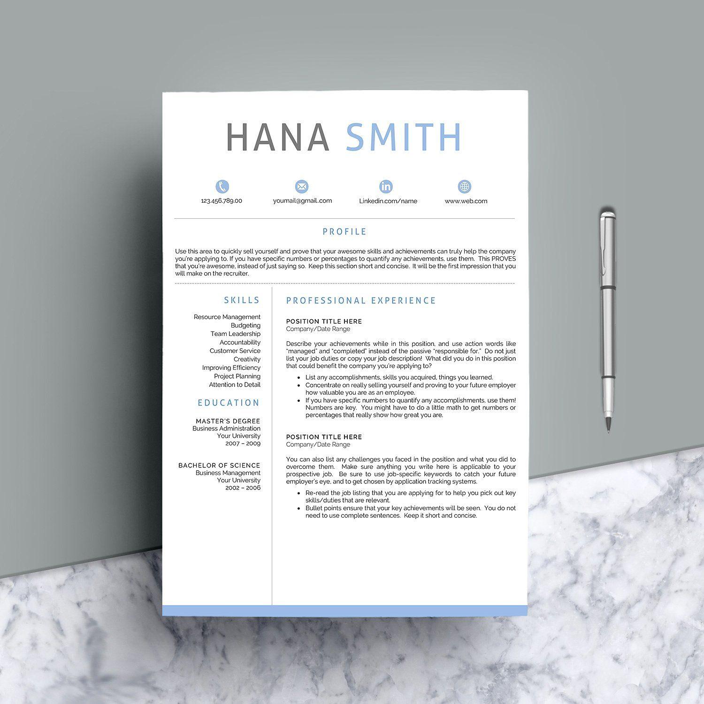 Resume Template CV Word CoverpagesReferencesletter