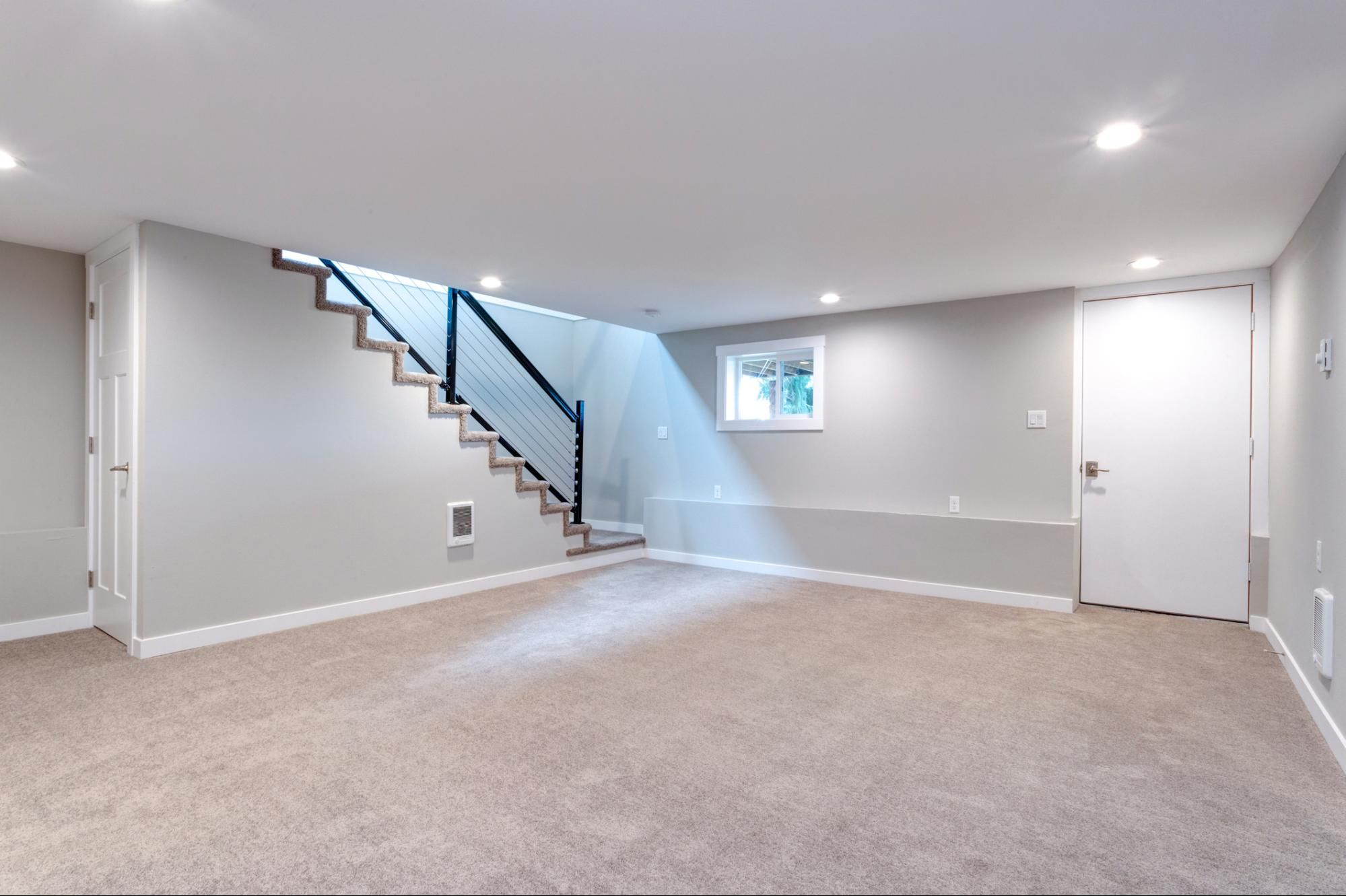 Finish A Basement Cheap In 2020 Cost To Finish Basement Basement Remodel Cost Finishing Basement