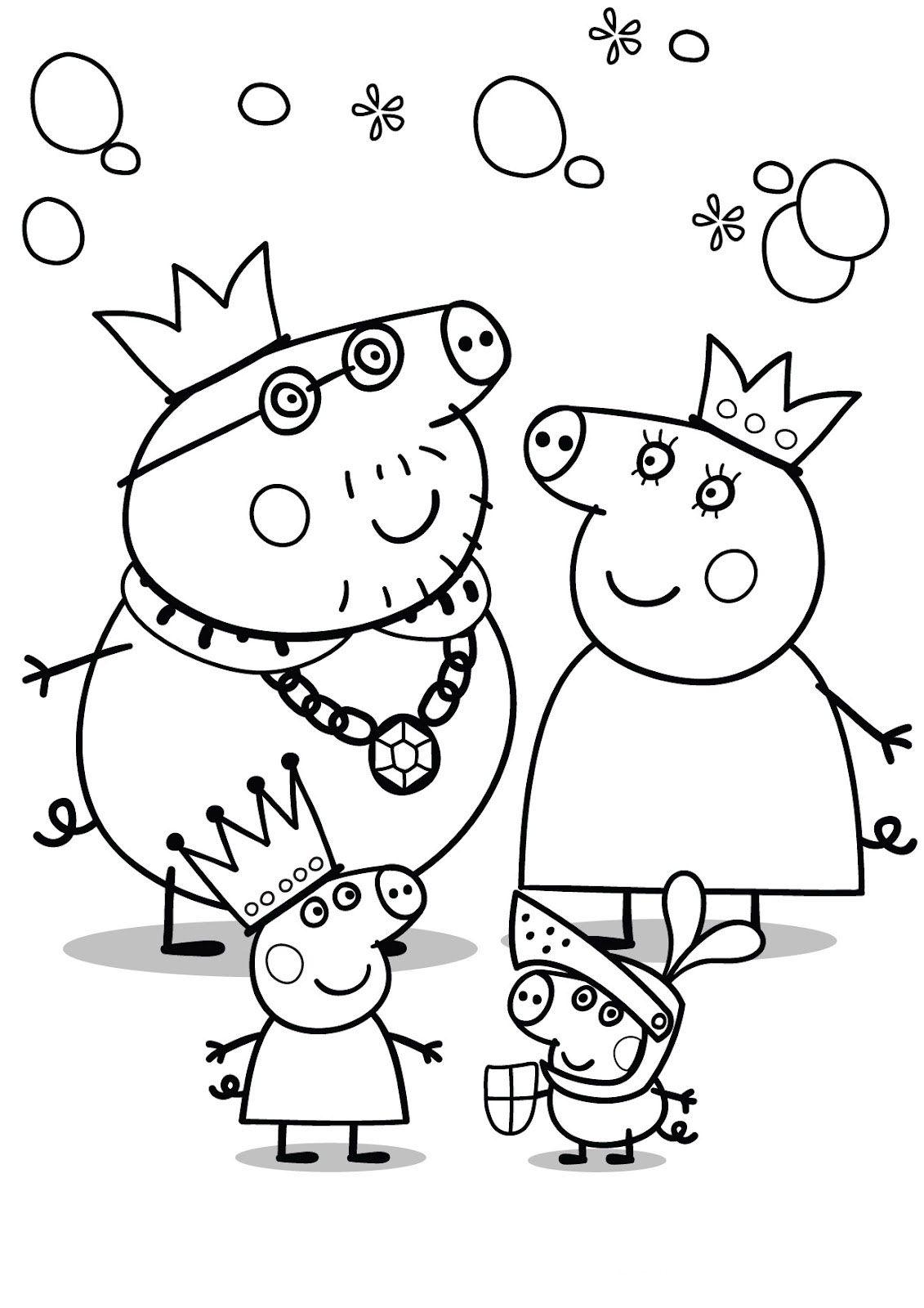 Peppa Pig Para Colorear Pintar E Imprimir Dibujo De Peppa Pig
