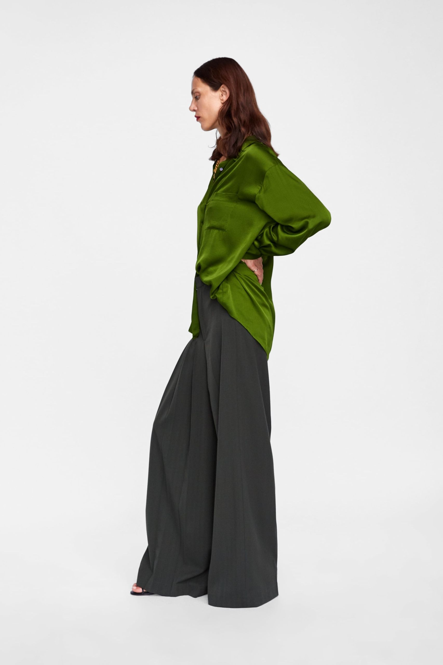 Luksusowa Piekna Koszula Zara M Satynowa 7813339264 Allegro Pl Fashion Normcore Style
