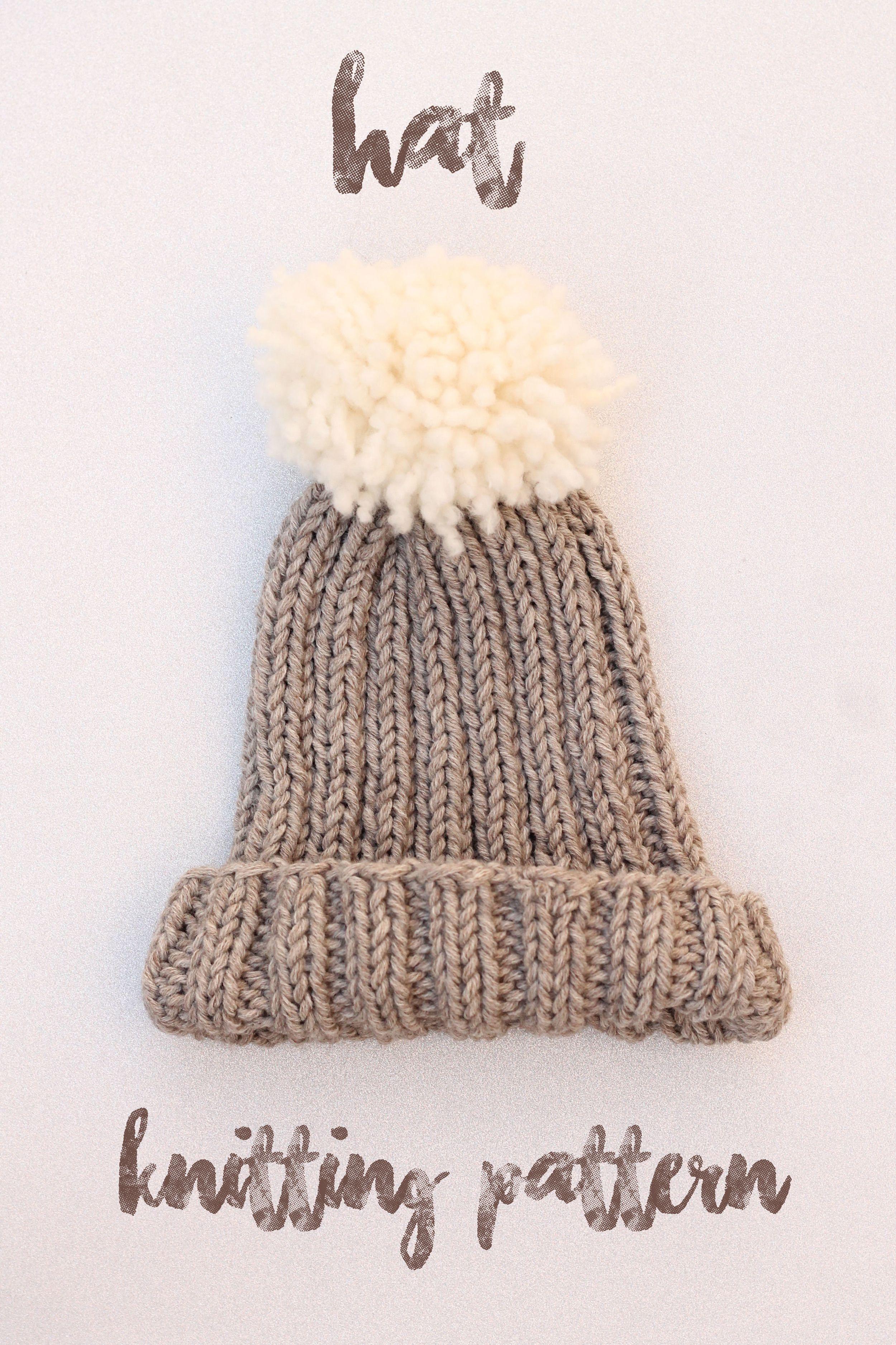Free Hat Knitting Patterns | Beginner knitting patterns ...