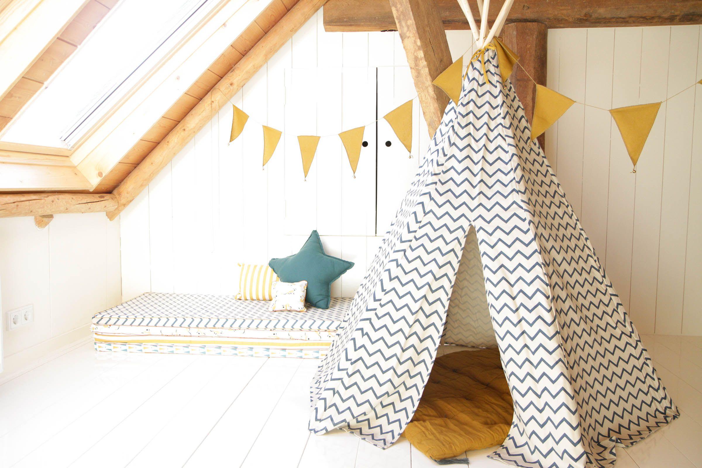 Tipi Tent Kinderkamer : Kinderkamer inspiratie speelmaterasjes en tipi tent voor knusse