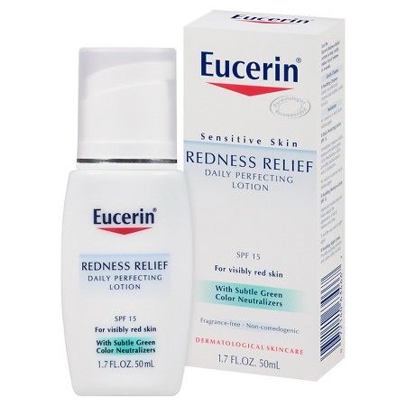 Eucerin Redness Relief Daily Perfecting Lotion With Spf 15 1 7 Oz Target Skin Redness Lotion For Dry Skin Moisturizing Skin Cream