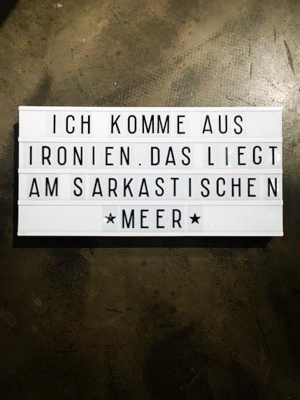 Ironischer Spruch Fur Light Box Message Board Letter Board Und