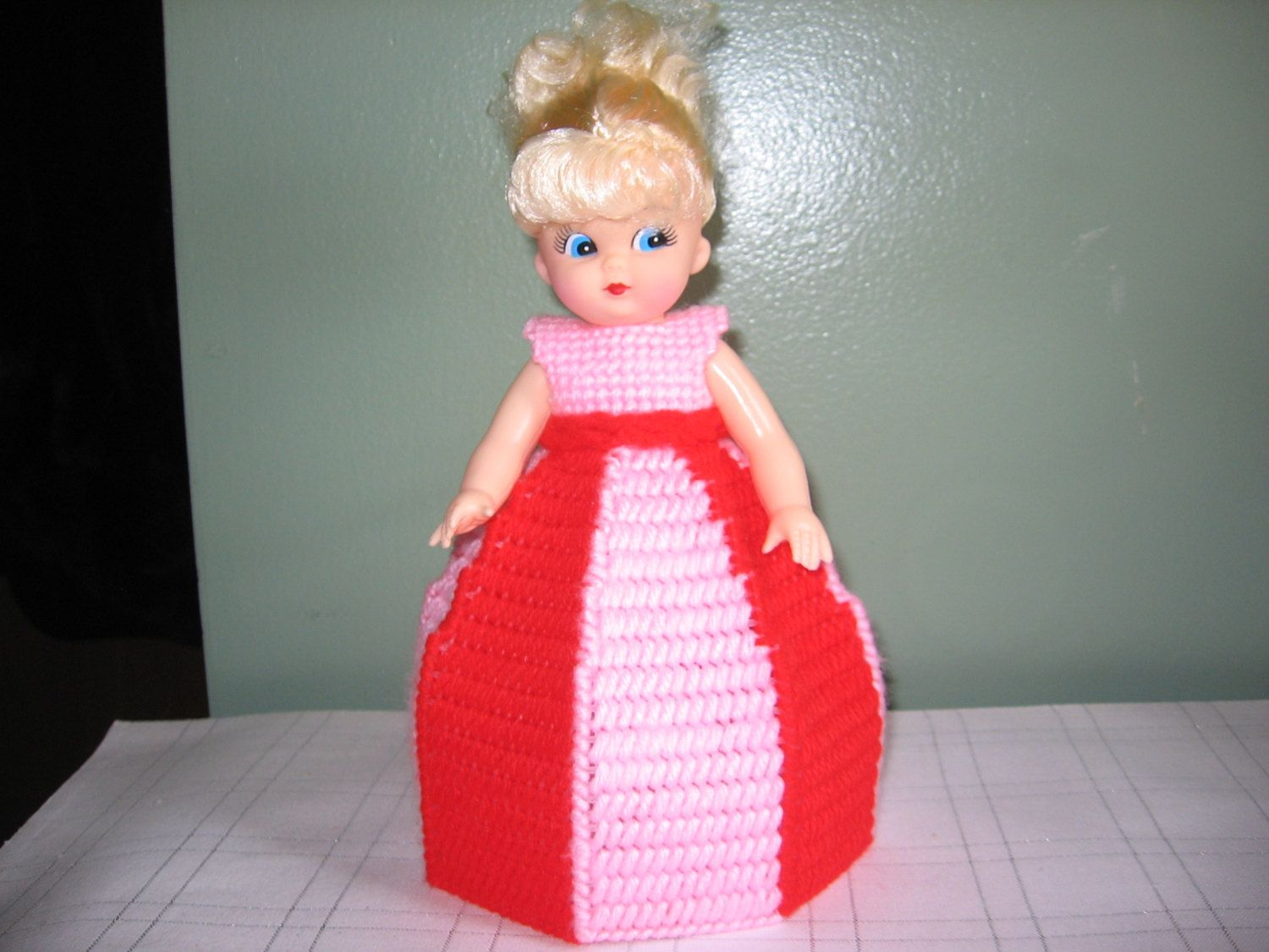 Red/Light Pink Collectible Doll - use for decoration or Air Freshner!! by CreationsbyAMJ on Etsy #airfreshnerdolls