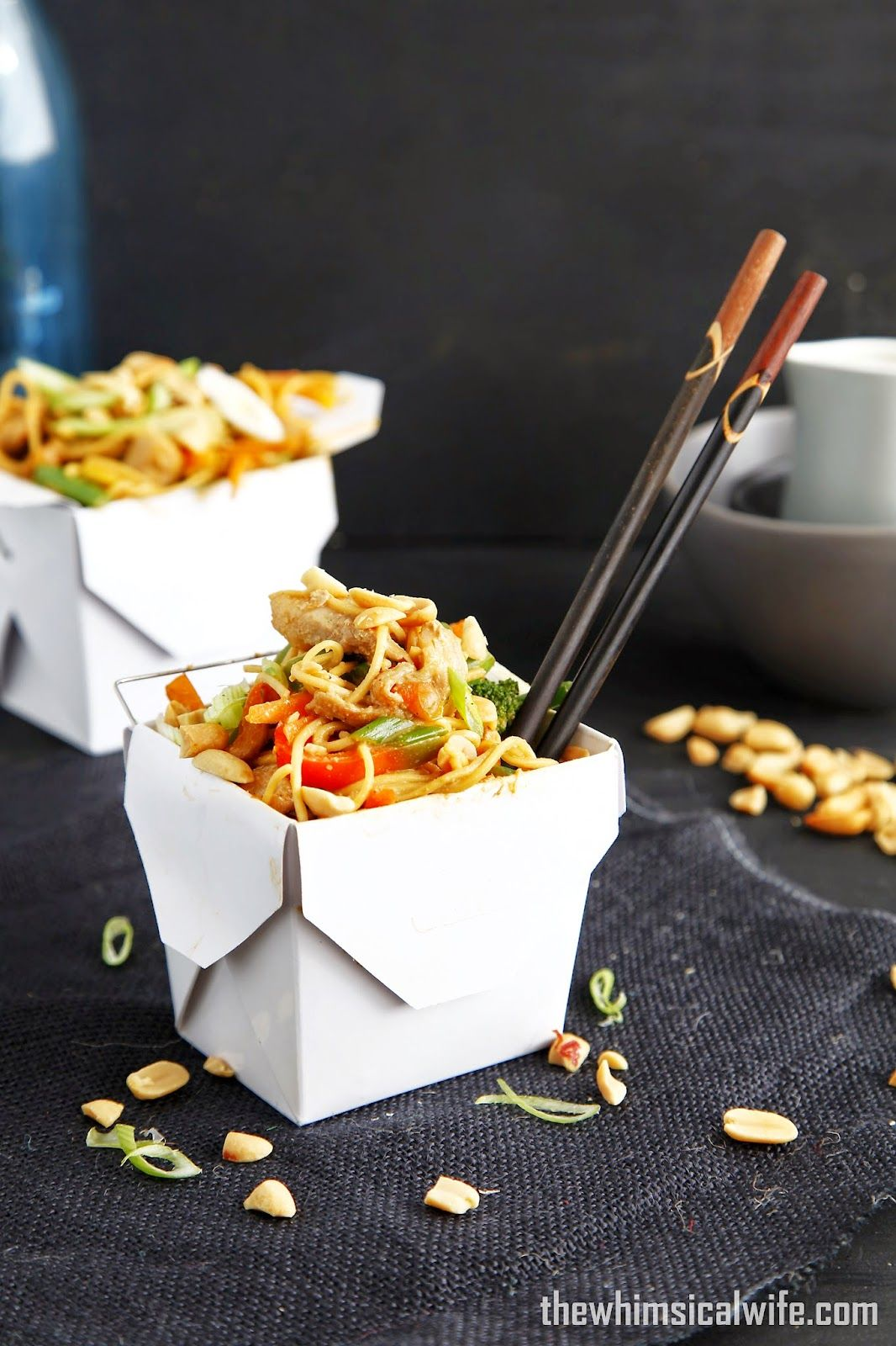Wok In A Box Satay Pork Noodle Box The Whimsical Wife Cook Create Decorate Pork Noodles Spicy Recipes Satay
