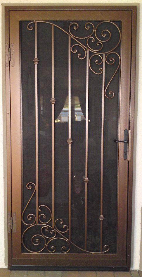 Custom security doors phoenix gate design door steel gates also classical iron window grill metal art rh pinterest