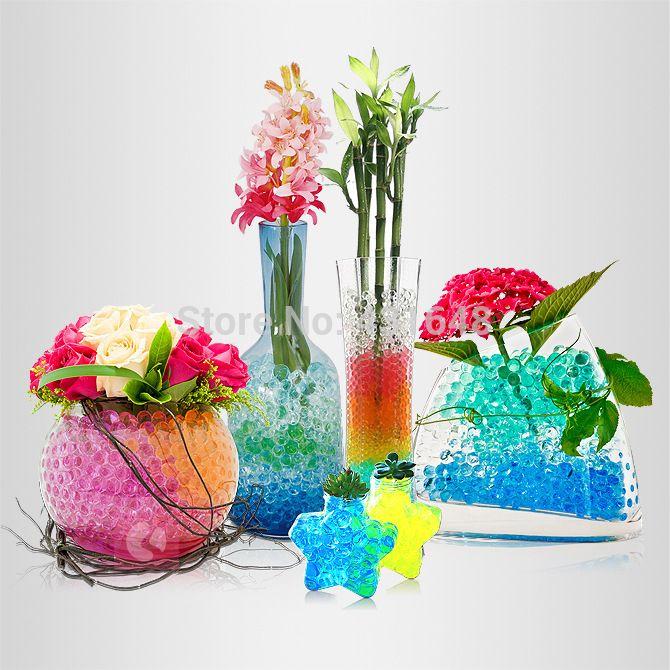 Aliexpress Com Buy Magic Crystal Soil Hydrogel Beads Flower Vase Wedding Table Centerpieces Decor Novelty Househo Water Beads Gel Beads Wedding Decor Vases