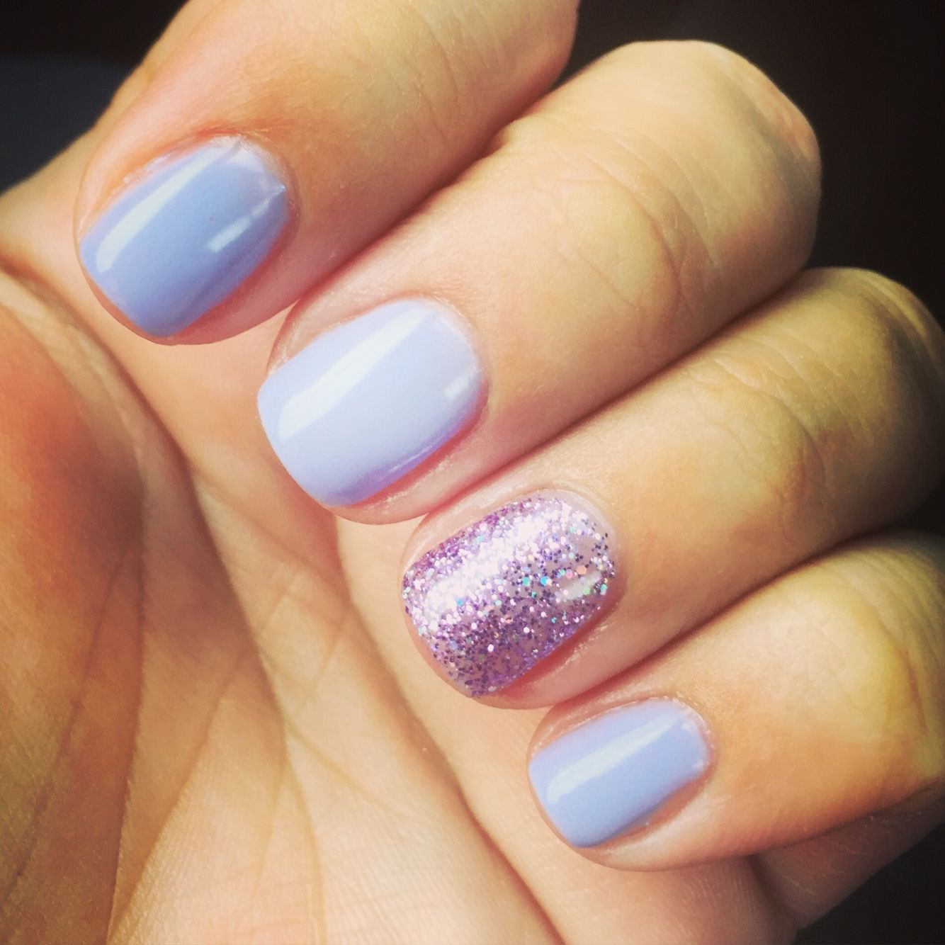Opi you\'re such a Budapest with DND lavender daisy star glitter ...