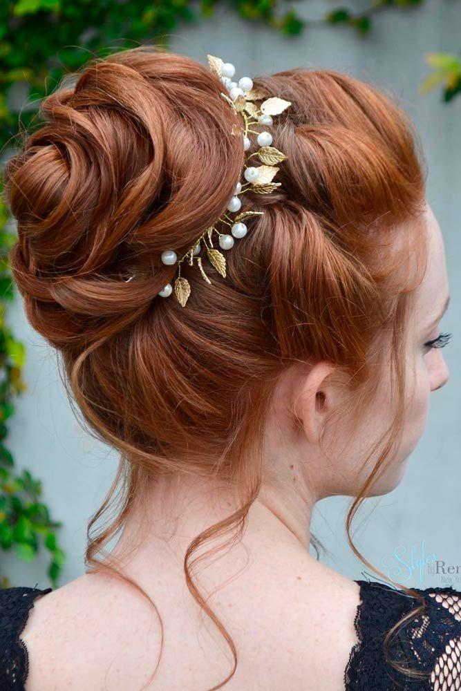 45 Trendy Updo Hairstyles For Medium Length Hair   Medium ...