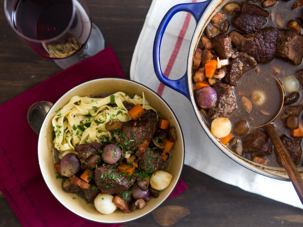 Boeuf Bourguignon Beef Stew With Red Wine Mushrooms And Bacon Recipe Recipe Beef Bourguignon French Beef Stew Serious Eats