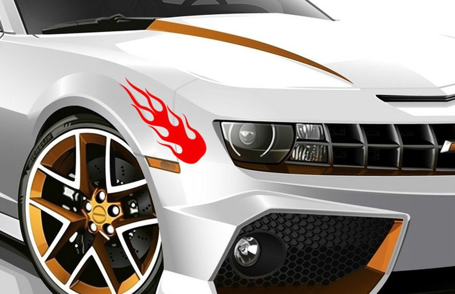 X Flame Fire Sport Art Drift Tuning Vinyl JDM WV Decal Art - Plastic stickers for cars