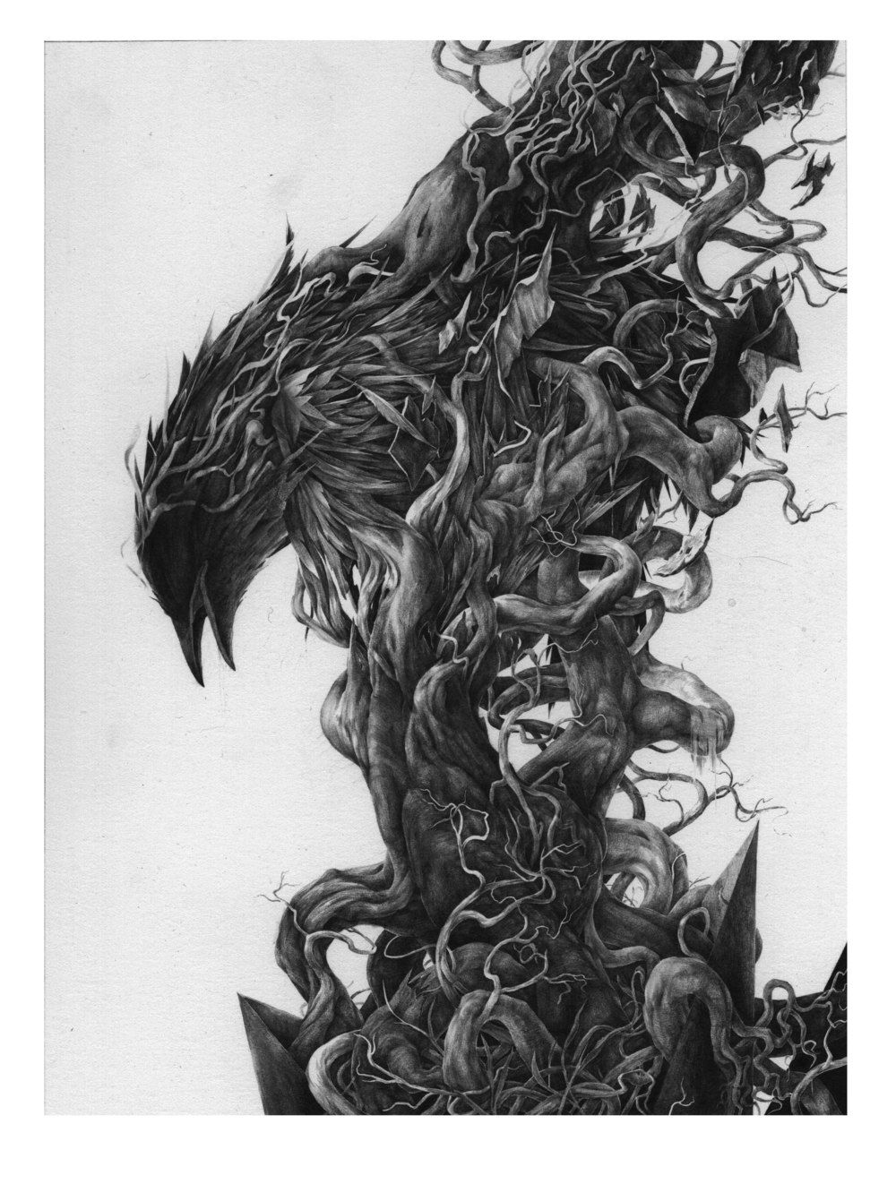 Emerge  Graphite Drawing by Josh Chance