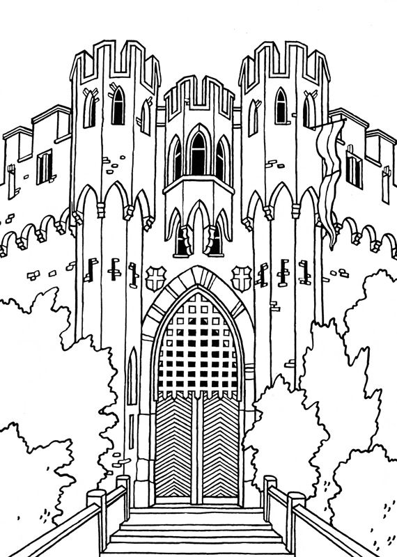 Coloring Pages For Adults Castle : Free castle coloring sheets burg lahneck colorpages