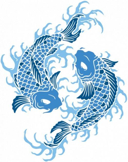 japanese koi fish | Illustrations | Pinterest | Flores de cerezo ...