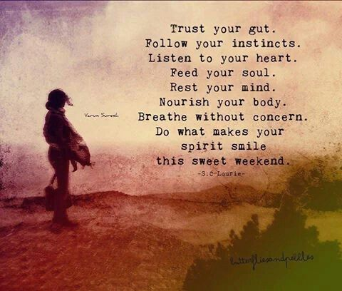 Trust Your Gut Follow Your Instincts Listen To Your Heart Feed Your Soul Rest Your Mind Nourish Your Body Breathe Trust Your Gut Quotes To Live By Quotes