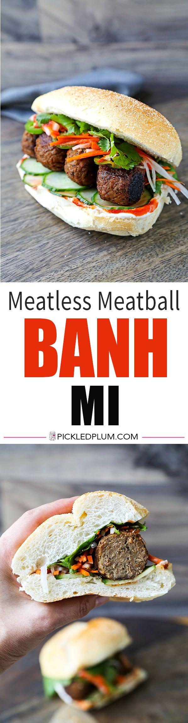 Meatless Meatball Banh Mi