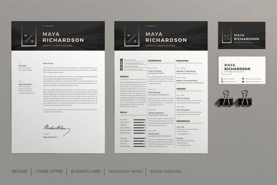 Resume template, Professional resume template instant