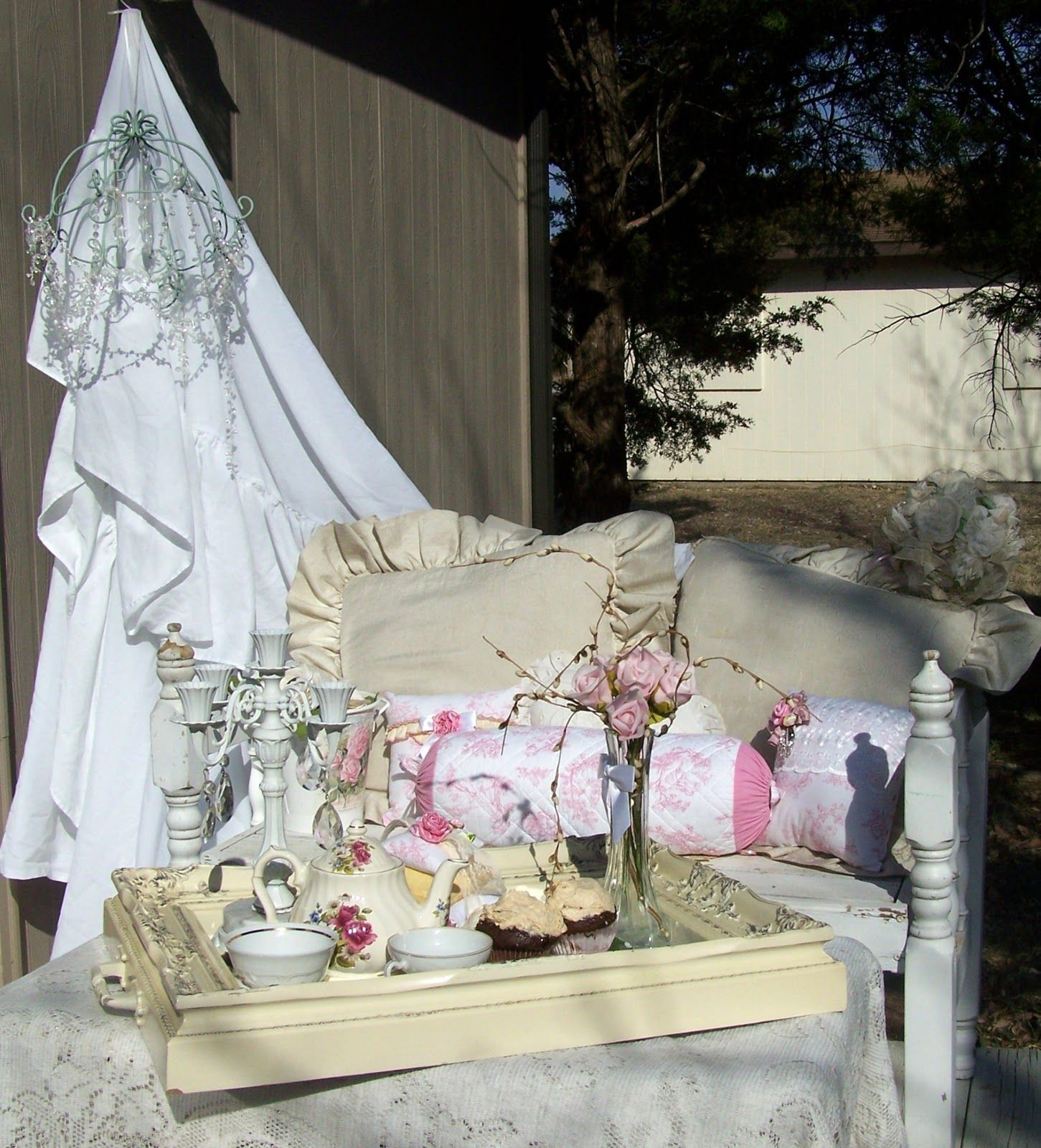 Shabby Chic Porches and Lawns buy my outdoor Shabby pillows at