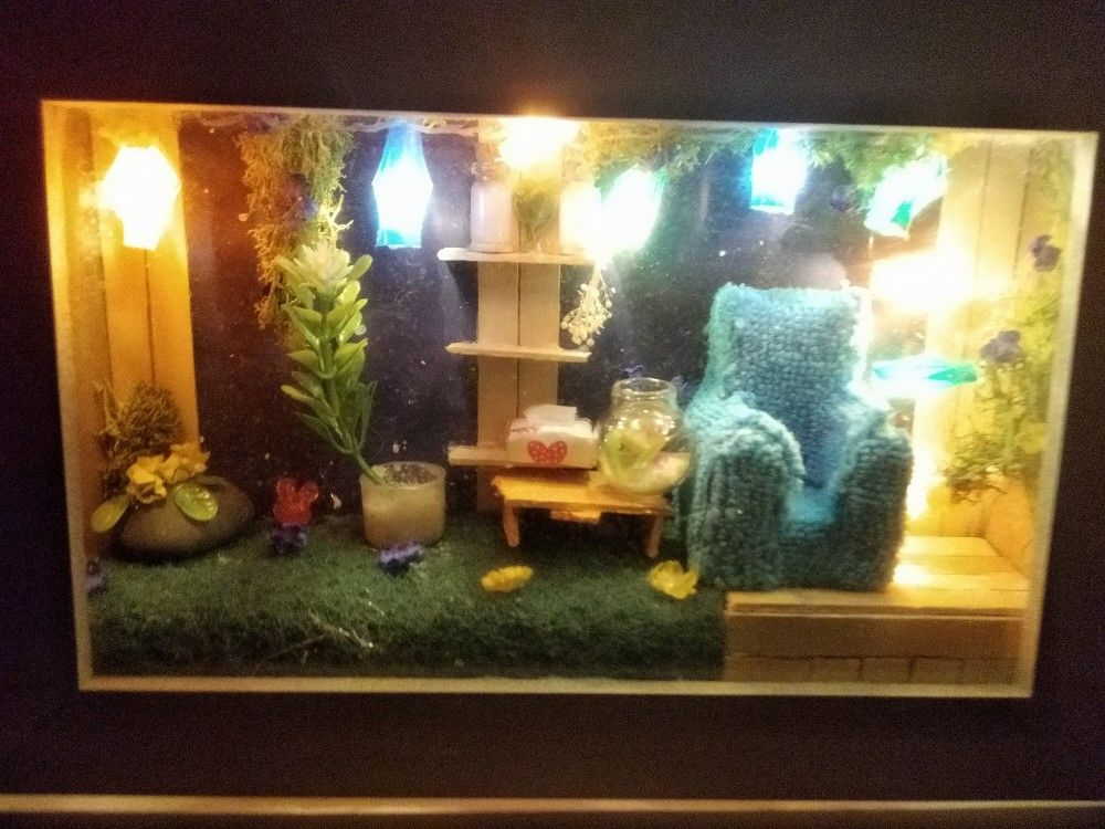 Diorama Garden In A Frame For Photos