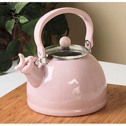 Reston Lloyd Calypso Basics Pink Whistling Tea Kettle Tk Metal Kitchenaid