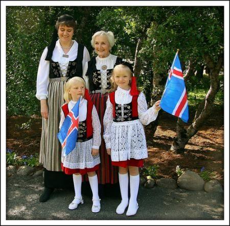 vestuario de algunos islandeses