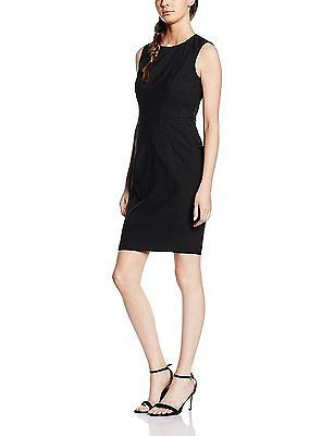 14 Black New Look Womens Penny Suit Sleeveless Pencil Dress New