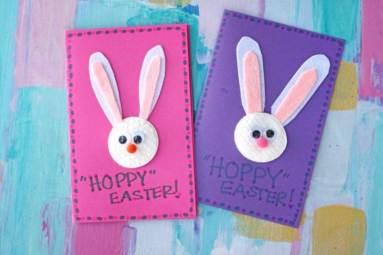 Cotton Round Bunny Craft #ArtsAndCrafts #KidsCrafts #Crafts #DIY #Easter