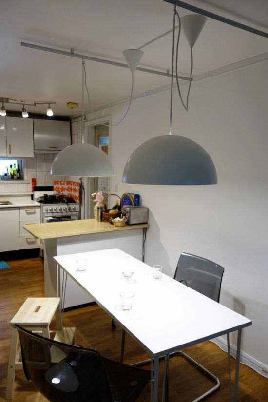 Great Ways For Lighting A Kitchen: Hack Rail Lighting In The Cheapest Way