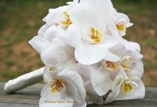 White Phalaenopsis Orchid Wedding Bouquet White Wedding Flowers Orchid Bouquet White Orchid Bouquet